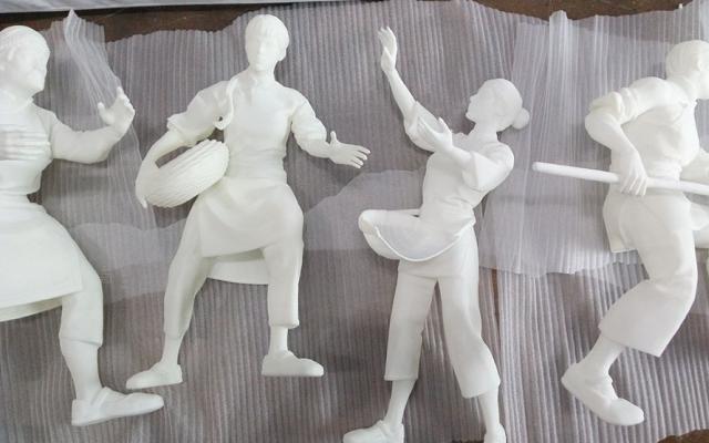某雕塑公司3D打印系列人物劳作雕塑