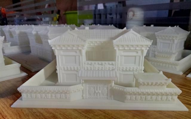 某单位定制藏式建筑模型并3D打印小批量制作