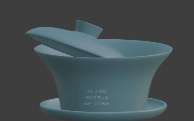 成都元素——茶碗3D打印模型设计