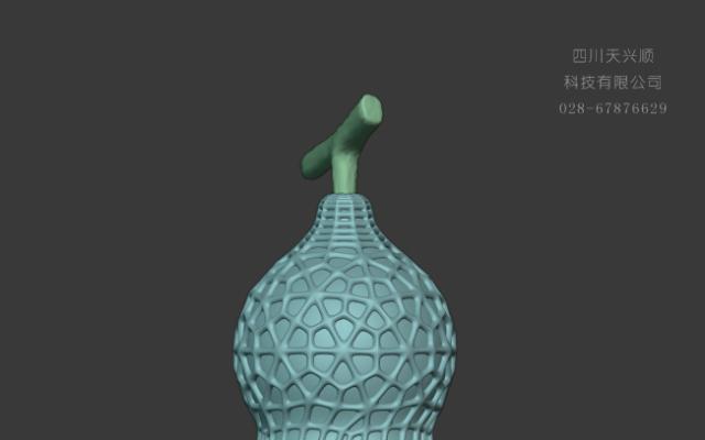 镂空葫芦装饰模型设计