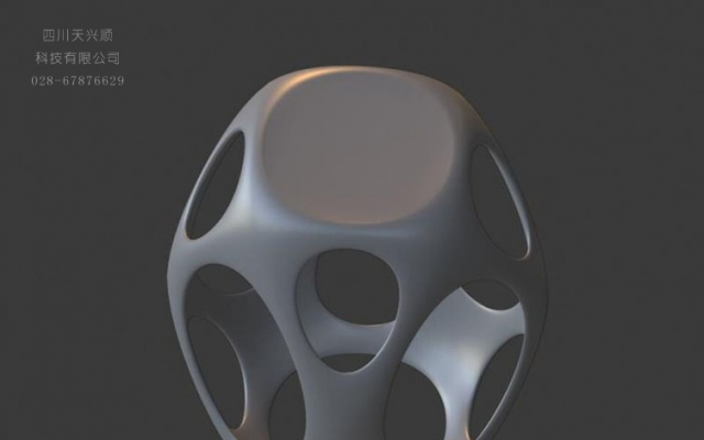 镂空创意座凳模型设计